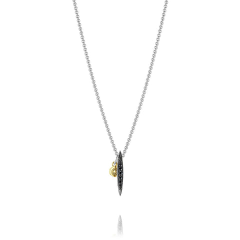 Ivy Lane Petite Pave Drop Pendant featuring Black Diamonds Style #SN20644