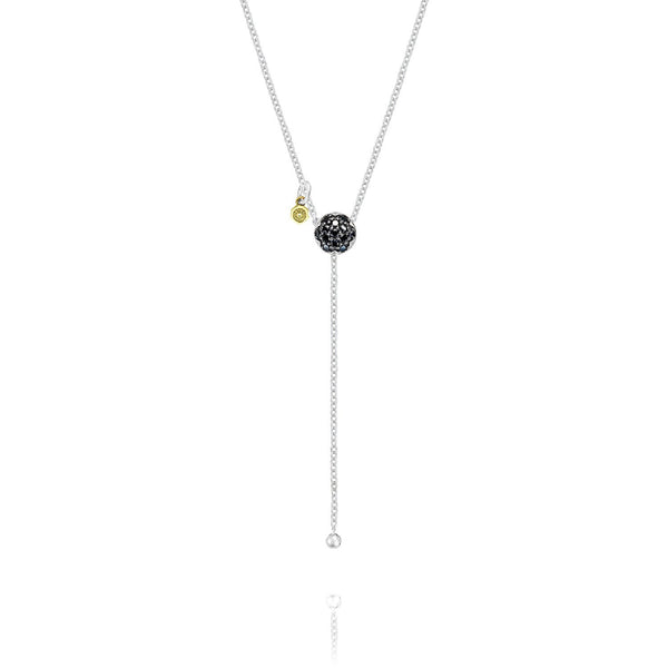 Sonoma Mist Pave Dew Drop Lariat featuring Black Diamonds Style #SN21844
