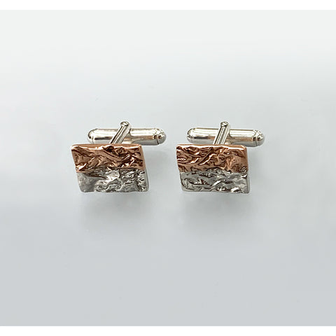 Copper and Silver Cufflinks