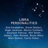 Libra Personalities: Kim Kardashian, Gwen Stefani, Hugh Jackman, Marion Cotillard, Gwyneth Paltrow, Will Smith, Halsey, Kate Winslet, Bruno Mars, Matt Damon, Carrie Fisher.
