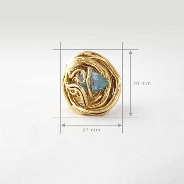 Angel's Nest Aqua Aura Ring Limited Edition