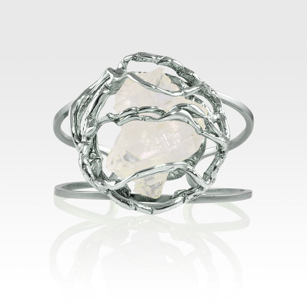 Angel's Nest Cuff Faden Quartz Silver