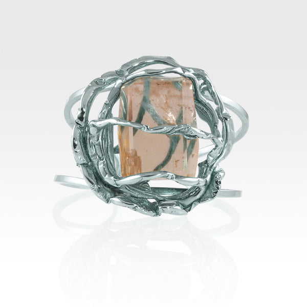 Angel's Nest Cuff Smoky Quartz Silver