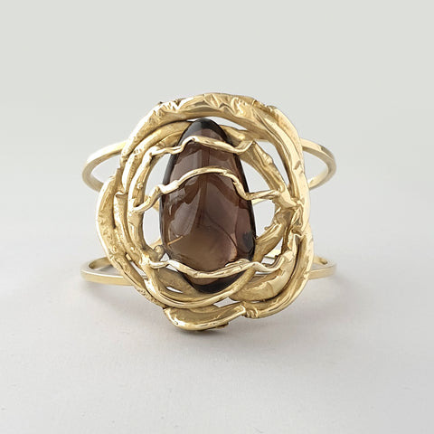 Angel's Nest Smoky Quartz Cuff
