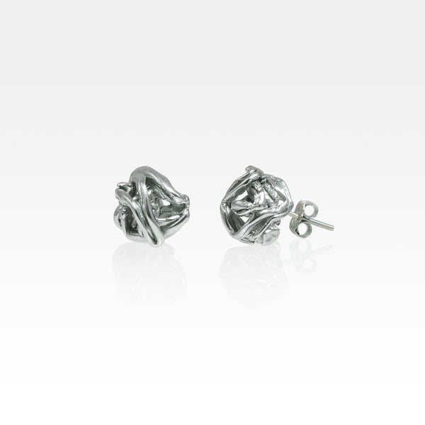 Angel's Nest Stud Earrings Silver