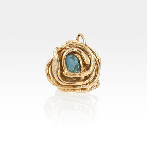 Angels Nest Ring Aqua Aura