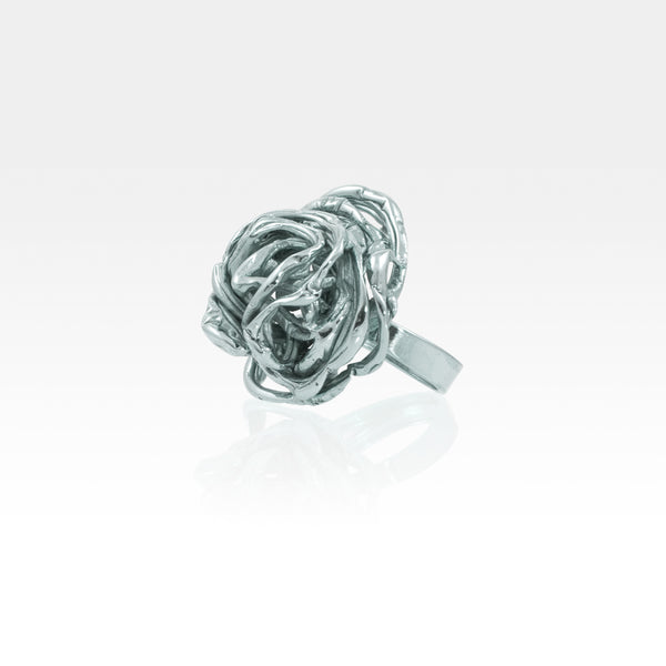 Angel's Nest Ring Silver Side View