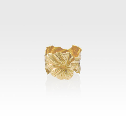 Art Deco Leaf Ring