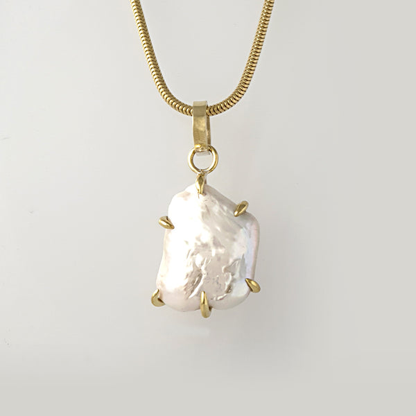 Baroque Pearl Pendant Bronze Limited Edition