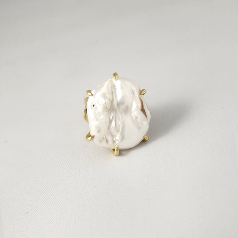 Baroque Pearl Ring Large