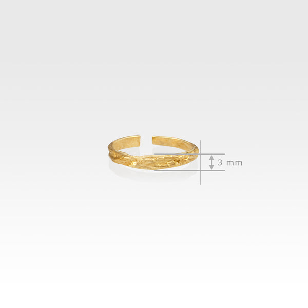 Beech Bark Skinny Ring Measurements