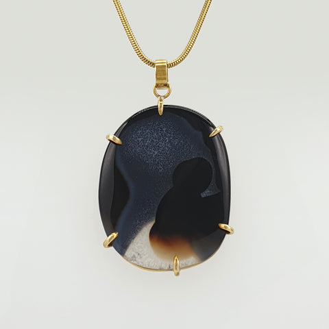 Black Onyx Pendant Large Limited Edition 1 *SOLD*