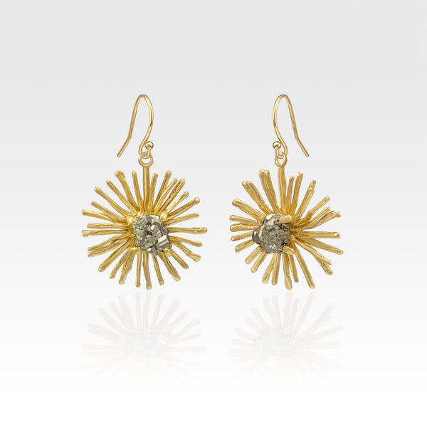 Chrysanthemum Drop Earrings