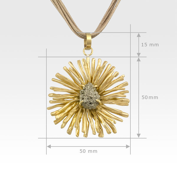Chrysanthemum Pendant Large Measurements