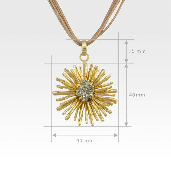 Chrysanthemum Pendant Medium Measurements
