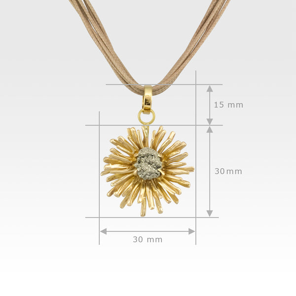 Chrysanthemum Pendant Small Measurements