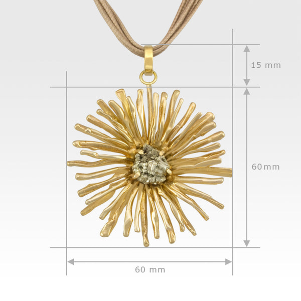 Chrysanthemum Pendant X-Large Measurements
