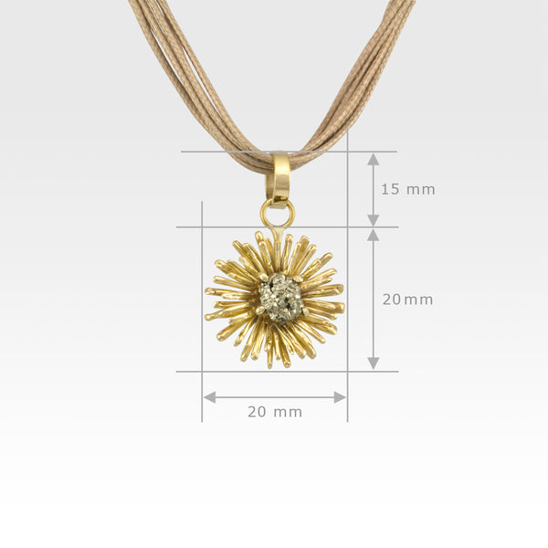 Chrysanthemum Pendant X-Small Measurements
