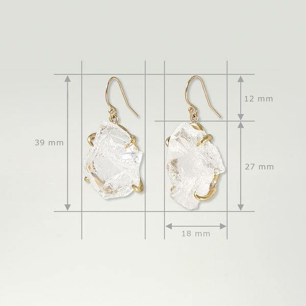 Faden Quartz Earrings Measurements