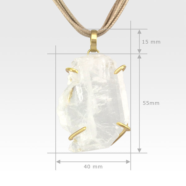 Faden Quartz Pendant Large Measurements