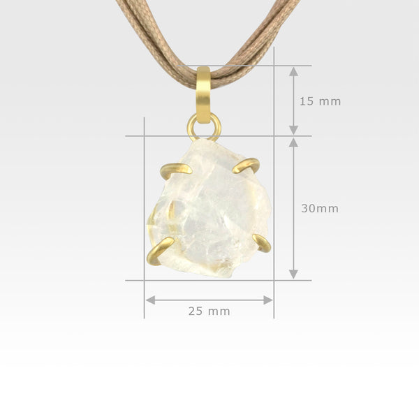 Faden Quartz Pendant Small Measurements