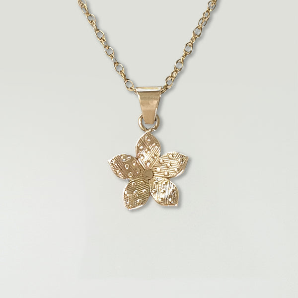 Forget-Me-Not Pendant Gold