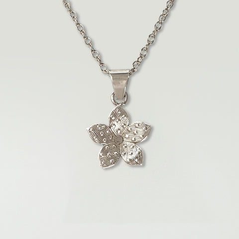 Forget-Me-Not Pendant Silver