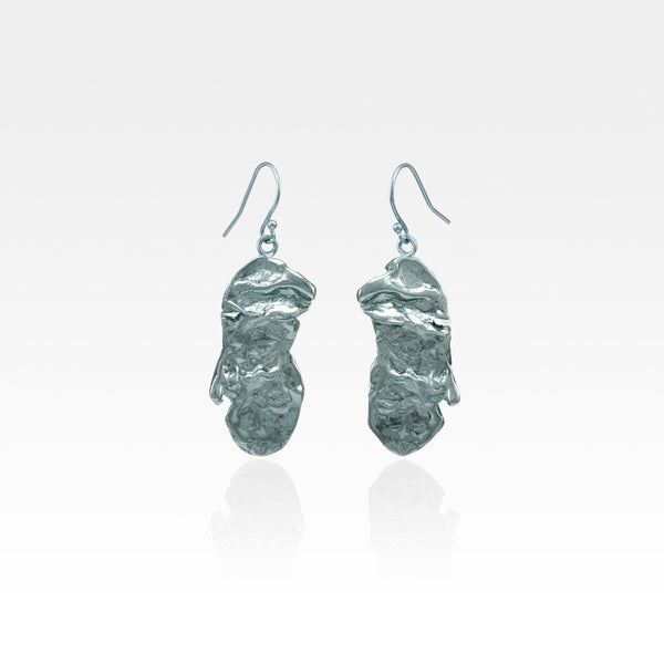 Freeform Molten Drop Earrings - Style 3