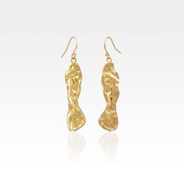 Freeform Molten Drop Earrings - Style 2
