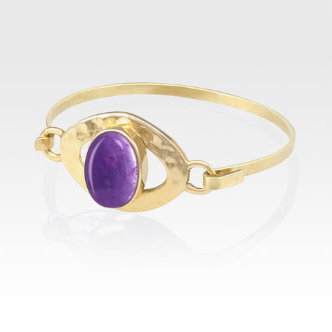 Hammered Bangle Amethyst