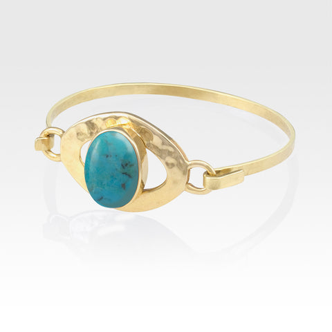 Hammered Bangle Turquoise