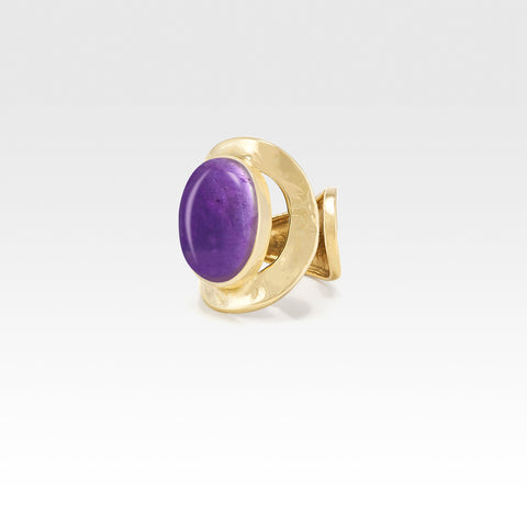 Hammered Ring Amethyst