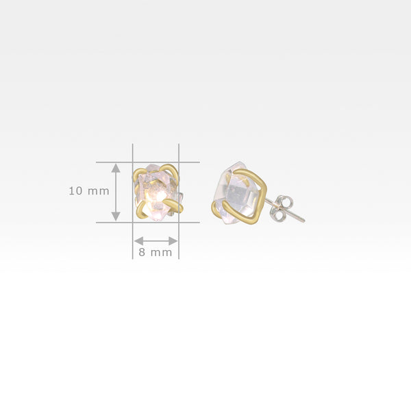 Himalayan Diamond Stud Earrings Measurements