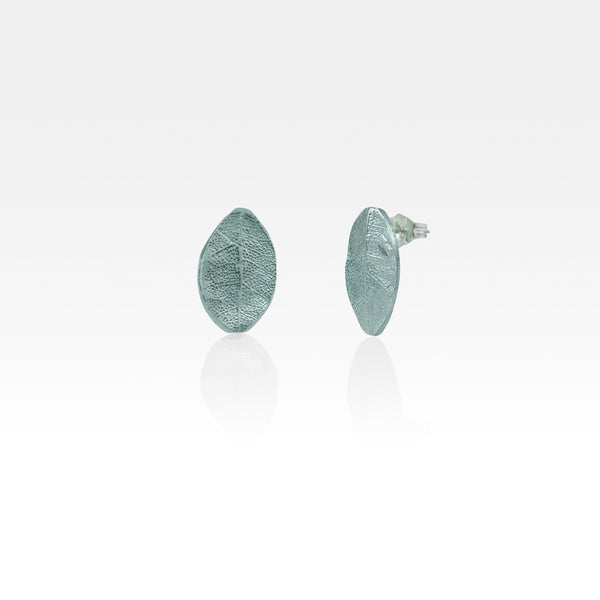 Laurel Leaf Stud Earrings Silver