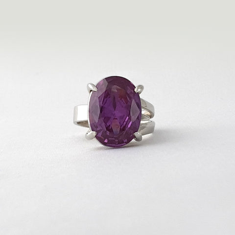 Multi-Facet-Alexandrite-Ring-Silver
