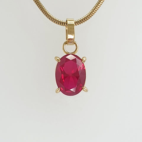 Multi-Facet Ruby Pendant Limited Edition 1