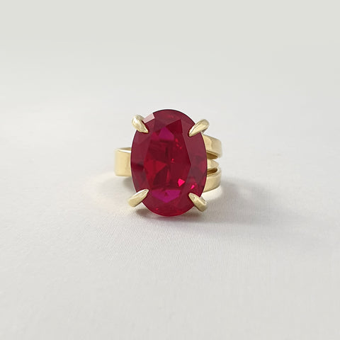 Multi-Facet Ruby Ring Limited Edition 1