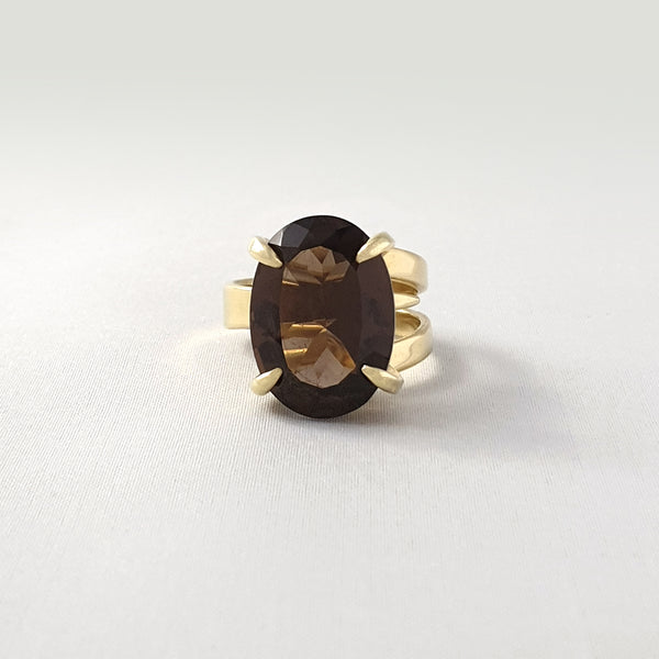 Multi-Facet Smoky Quartz Ring Limited Edition 1