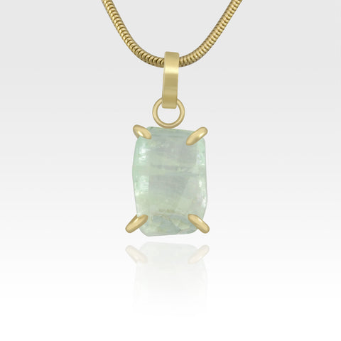 Multi-Facets Aquamarine Fancy Pendant