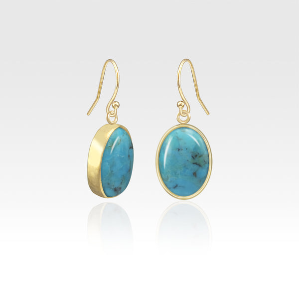 Oval Earrings - Turquoise