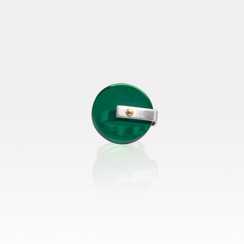 Plexiglas Rivet Circle Ring - Green