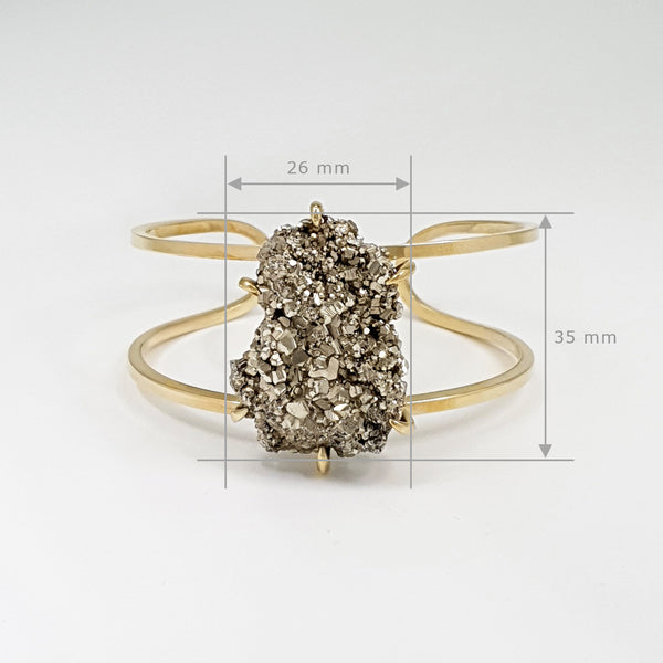 Pyrite Cuff Medium Limited Edition 1 *SOLD*
