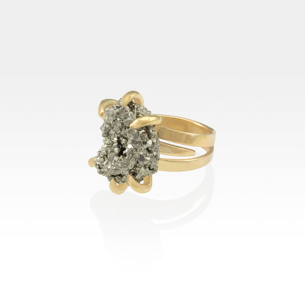 Pyrite Ring Small Side