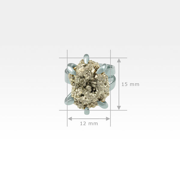 Pyrite Ring Small Measurements