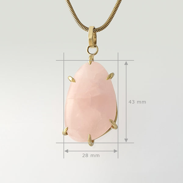 Rose Quartz Pendant Measurements