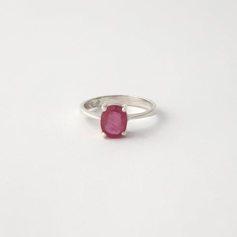 Multi-Facet Ruby Ring Silver Limited Edition 3