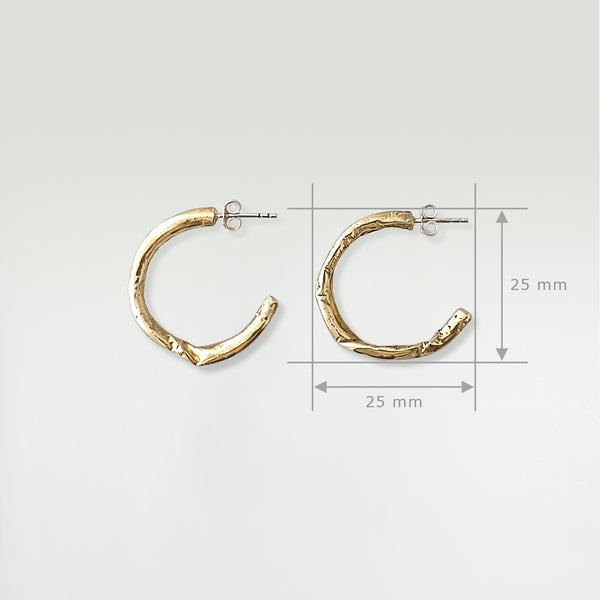 Twiglet Hoop Earrings Large Measurements