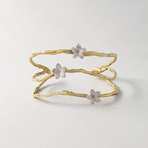 Twiglet Flower Two Tone Cuff Limited Edition 2
