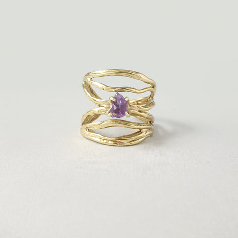 Twiglet Raw Amethyst Ring Limited Edition 1