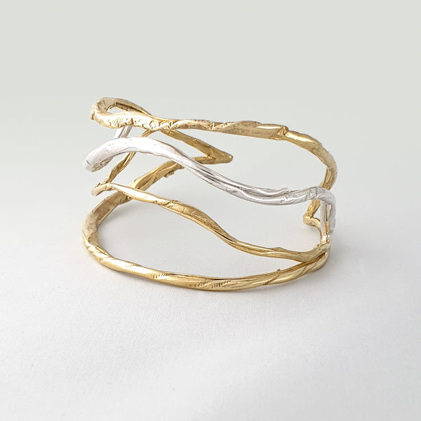 Twiglet Two Tone Cuff Side